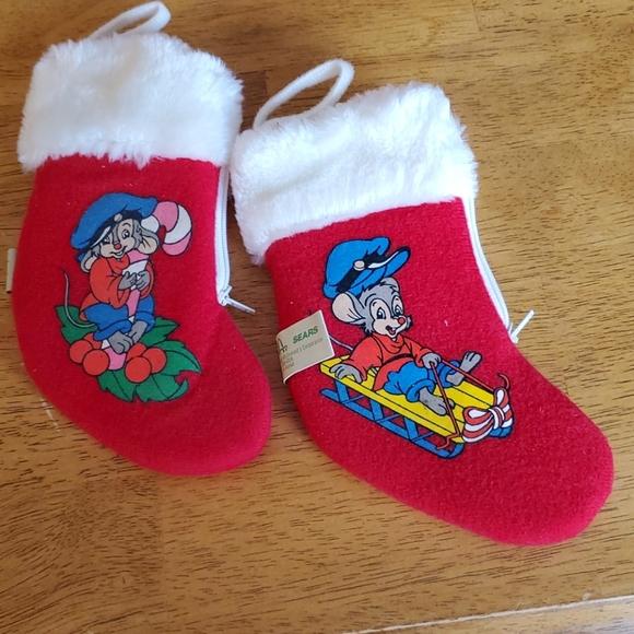 An American Tale Christmas stockings vintage